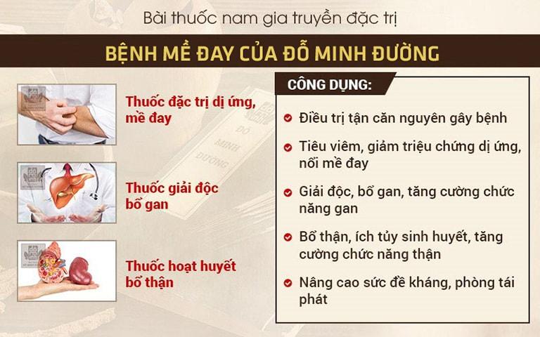 Cơ chế tác động SONG TIÊU ĐỒNG DƯỠNG của bài thuốc Mề đay Đỗ Minh