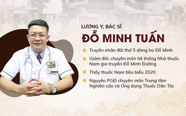 Lương y Đỗ Minh Tuấn có gần 20 năm kinh nghiệm khám, chữa bằng YHCT