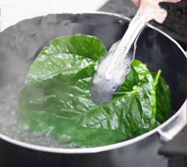 Nấu trầu không thành nước tắm sẽ giúp ngăn ngừa da nổi mề đay