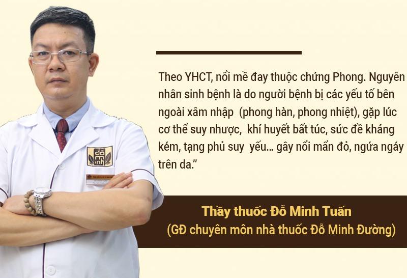 Lương y Đỗ Minh Tuấn chia sẻ nguyên nhân mề đay mẩn ngứa