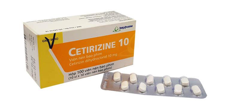 Thuốc trị mề đay mẩn ngứa cho bà bầu Cetirizine