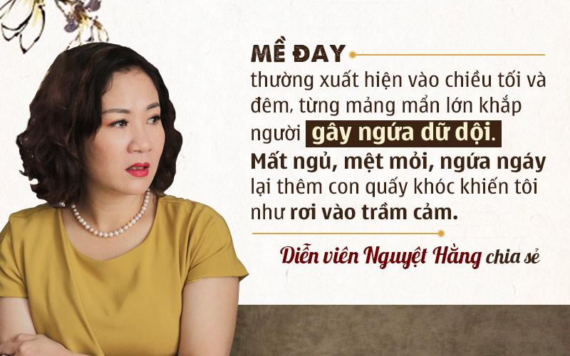 Diễn viên Nguyệt Hằng bị dị ứng nổi mề đay sau sinh